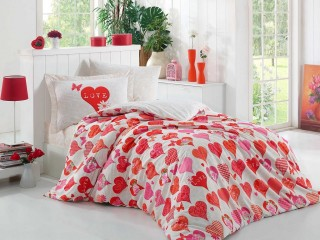 Lenjerie de pat single Hobby Home bumbac 100% poplin Vera Red